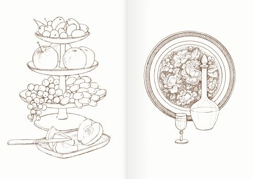 Альбом для раскрашивания. |Часть 4. Посуда