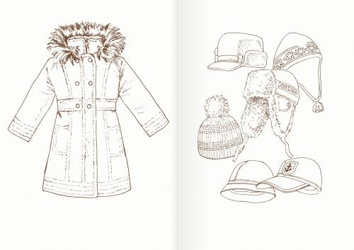 Альбом для раскрашивания. |Часть 5. Одежда