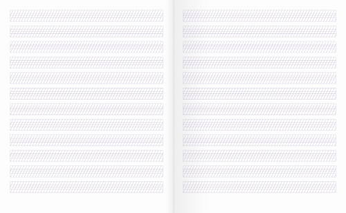 Тетрадь № 1 для письма |(с графической сеткой, для 1-2 классов)
