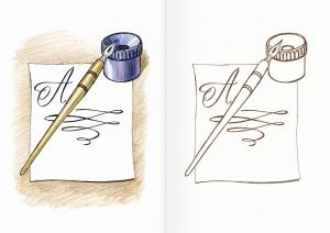 Альбом для раскрашивания. |Часть 2. Учебные вещи