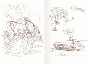 Альбом для раскрашивания. |Часть 23. Военная техника
