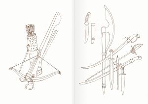 Альбом для раскрашивания. |Часть 24. Оружие