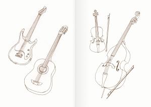 Альбом для раскрашивания. |Часть 26. Музыкальные инструменты